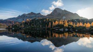 lago marcio in autunno