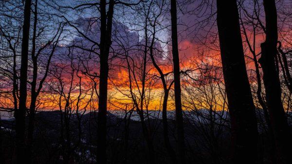 monte poieto tramonto