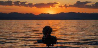 fotografare tramonto sul lago