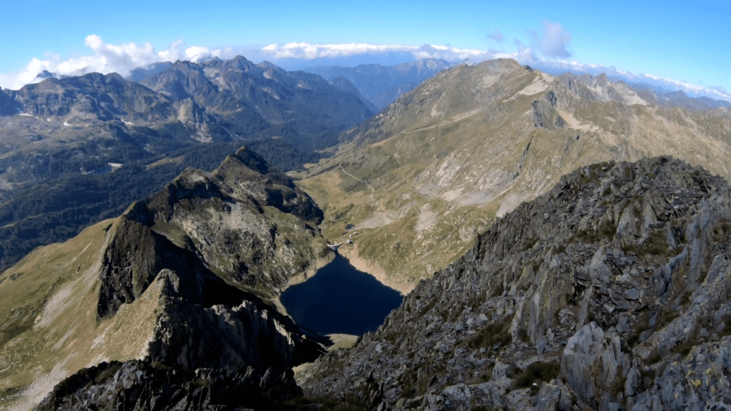 vista dal monte Aga